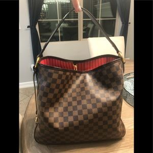 Authentic Louis Vuitton Damier Ebene Delightful MM